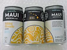 NEW GRAPHICS ~ EMPTY MAUI BREWING BIKINI BLONDE LAGER Craft Beer 12oz Can Hawaii
