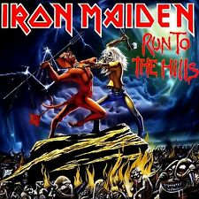 Iron Maiden - Run To The Hills EP Vinyl LP Cover Sticker or Magnet