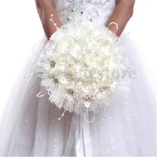 Bridal Wedding Bouquet Brooch Imitation Pearls Posy Simulation Flower Home Decor