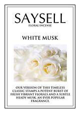 White Musk Floral 20 Incense Joss Sticks Agarbatti - TOP QUALITY FRAGRANCE