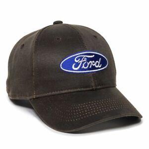 Ford Solid Back Hat Dark Brown Adult Adjustable Unisex Ford Logo