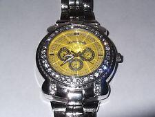 Men's Montres Carlo Watch - 40+ jewels - Water Resistant - beveled crysta #30088
