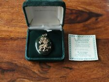 Vintage Nephrite Jade Pendant with Dragon inlay