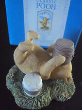 BORDER FINE ARTS CLASSIC POOH FIGURINE: POOH LYING DOWN WITH HONEY POT FIGURINE