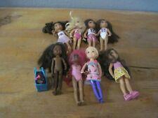 """Mattel Chelsea Dolls Barbie Little Sisters 5.5"""" Pet in Carrier Lot of Dolls"""