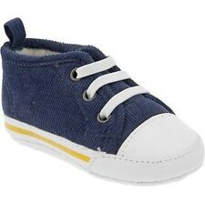 Old Navy Soft Sole Baby Boy Shoes - Navy Blue Corduroy (Size 3-6 mos)
