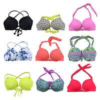Victoria's Secret Swim Halter Sexy Gorgeous Push Up Bikini Top Demi Bathing Suit