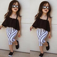 Summer New Fashion Style Kids Girls Cute Little Black Tutu Dress Outfits Clothes