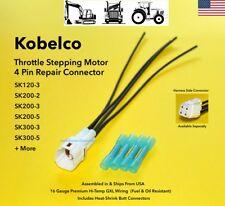 Kobelco Throttle Stepping Motor Stepper Connector Plug Pigtail SK200 SK300