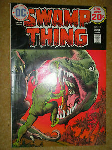 SWAMP THING # 12 LEN WEIN NESTOR REDONDO 25c 1974 BRONZE AGE HORROR DC COMIC BK