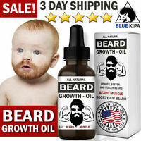 Beard Growth Oil Fast Growing Hair Grow Serum Mustache Grooming Gift for Men NEW