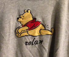 The Walt Disney Store Winnie The Pooh RELAX Embroidered T Shirt - L XL