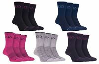 Storm Bloc - 3 Pack Womens Cushioned Breathable Cotton Summer Hiking Crew Socks