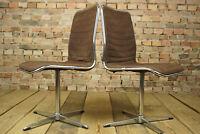 70er Chrom Drehstuhl Schreibtisch Stuhl Esszimmerstuhl Designer Space Age 1/36