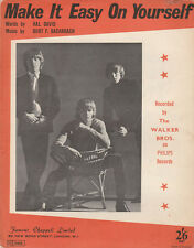 THE WALKER BROTHERS Make It easy On Yourself  '67 Pop Sheet Music