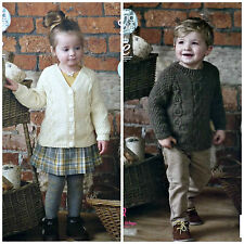 King Cole 4561 Knitting Pattern Childrens Raglan Tunic and Cardigan Fashion Aran