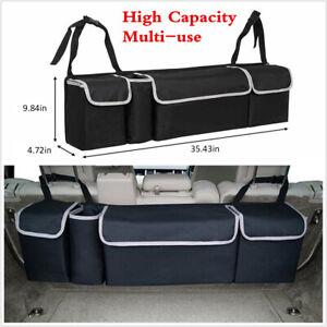 High Capacity Multi-use Car Seat Back Organizers Bag Interior Accessories Black