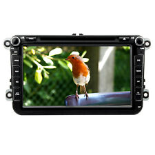 "UK 8""Car Stereo Head Unit GPS BT DVD Sat Nav For VW GOLF PASSAT SKODA SEAT JETTA"