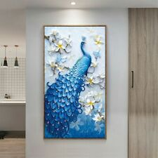 5D Peacock Diamond Painting Embroidery Full Drill Cross Stitch Home Art Decor