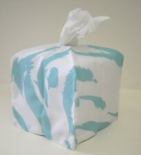 CHARMING KLEENEX TISSUE BOX COVER IN ABSTRACT BLUE PORTHAULT FABRIC  TT320