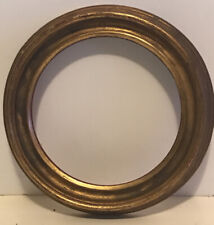 Antique Gold Leaf Round Picture Frame Orig.Label No Reserve Free Shipping