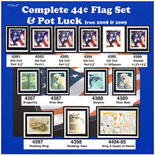 Complete 44¢ Flag Set from 2009-Six varieties 4391,4392,4393-4396 MNH-Vf  - Pg37