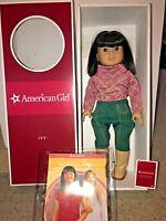 American Girl Doll IVY Asian Friend of Julie in Original Box Book - Pierced Ears