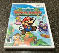Super Paper Mario (Nintendo Wii) Complete with Manual - Tested - Free Ship