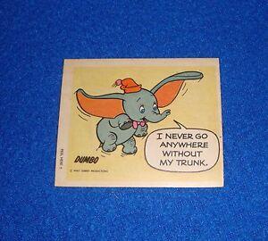 Vintage Disney Dumbo Sticker Unused