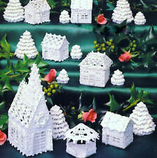 Crochet Pattern White Christmas Village