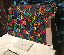 HOT Authentic Gucci Psychedelic GG Pouch Clutch Bag Wristlet Limited Edition NWT