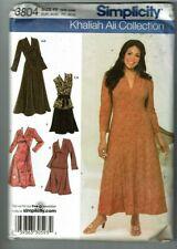 Simplicity # 3804 Khaliah Ali Knit Dress-Top-Skirt & Sash Patterns Sz 18W-24W UC