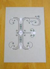 JESSICA HISCHE TYPOGRAPHIC POSTCARD ~ DAILY DROP CAPITAL LETTER F ~ SCROLL