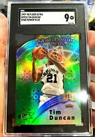 SGC 9 MINT 1997-98 Fleer Ultra Star Power Die-Cut Plus Tim Duncan #18SPP Rookie