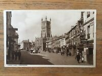 "CIRENCESTER GLOUCESTERSHIRE UK MARKET PLACE~W DENNIS MOSS ""CECILY"" POSTCARD"