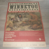 Filmplakat - WINNETOU  2.Teil - Pierre Brice,Lex Barker,A  Steel ,KARL MAY  DDR