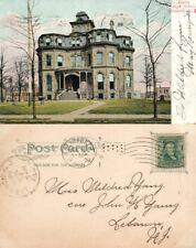 ELIZABETH N.J. BATTIN HIGH SCHOOL 1906 UNDIVIDED ANTIQUE POSTCARD