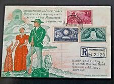 1949 Johannesburg SA To Grimsby England Illustrated Vootrekker Monument Cover