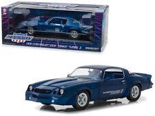 Greenlight 1:18 1981 Chevrolet Z28 Yenko Turbo Z Diecast Model Car Blue 13520