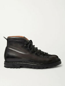 Officine Creative Artik 02 Boots Dark Grey Burnished Leather, size 41 - NWB £545