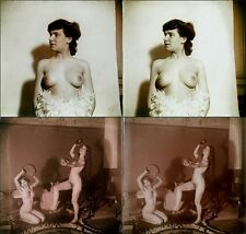 16 Stereoviews classic Nude Women in Paris 1905 Jules Richard from Glass-Plate 7