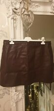 Leather Burgundy Skirt 16