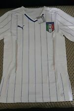 FIGC Italy away football shirt player issue jersey 2014 short sleeves Puma
