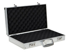 New Aluminum Framed Locking Gun Carry Case Handgun Pistol Hard Lock Box Storage