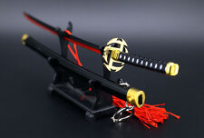 1/6 Bleach Kurosaki ichigo zangetsu zanbakutou red moonris Sword Katana 23cm 刀架