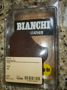 Bianchi Leather Model Model 6 Size 15 Gun Holster Made In Mexico Right Hand OWB