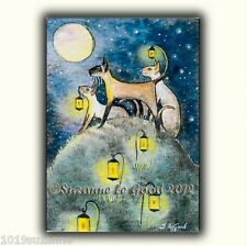 ACEO LTD EDITION POOK HILL SIAMESE CAT HALLOWEEN PAINTING PRINT SUZANNE LE GOOD