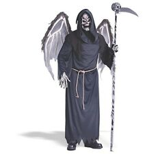WINGED REAPER Adult Mens Costume Creepy Halloween Skeleton Death Scary