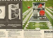 Publicité  Advertising 1973  (Double page) Lave vaisselle BOSCH Lave linge Frigo