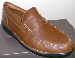 Mens Rockport Shoes NEW in Box Brown Loafers 11.5M